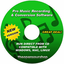 Pro Music Editing Software Package - Audio File Converter & Digital Sound Record