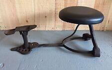Antique Cast Iron Shoe Shine Cobbler Chair Bench Pat. 1888 ROBB'S Bellefontaine