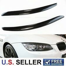 2007-2013 BMW Carbon Fiber Headlight Eyelid Eyebrow E92 E93 M3 328i 335i Coupe