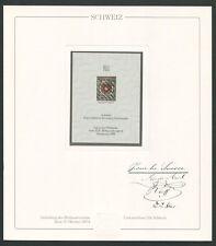 SCHWEIZ Nr. 1 OFFICIAL REPRINT UPU CONGRESS 1984 MEMBERS ONLY !! RARE !! z1624
