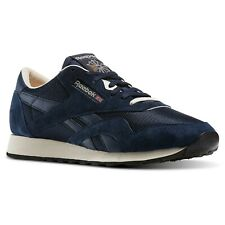Reebok CL Nylon P Navy White Suede Classic Mens Running Shoes SNEAKERS AR1232 UK 7.5