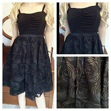 Vestido de noche simplemente Be Talla 16 Negro Cornelli Baile de graduación Fiesta £ 70 Boda Vintage