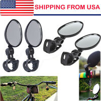 4pack Mini Rotaty Handlebar Glass Rear view Mirror for Road Bike Bicycle US