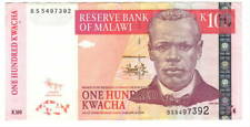 MALAWI 100 Kwacha XF Banknote (2011) P-54c Prefix BS Paper Money