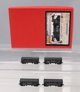 Micro-Trains 99305110 N Scale Baltimore & Ohio Weathered 2 Bay Hopper 4 Car Set