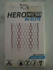 Brand New Red-Striker Lacrosse Semi-Soft HeroMesh Be Elite Mesh Head Netting