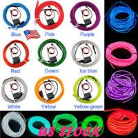 Car Led Light Strip EL Wire Fluorescent Neon Cold Rope Tube Auto Interior Lamp