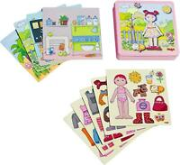 Haba Magnetic Game Box Dress-Up Doll Lilli | Magnetic Travel Games | 7392,
