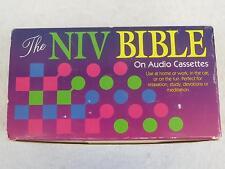 THE NIV BIBLE ON AUDIO CASSETTE Narrated by Steven Johnston 48 Cassette Box Set
