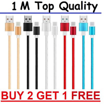 Braided Nylon USB C Type C To USB Charger Cable Data Sync Samsung S9 Huawei