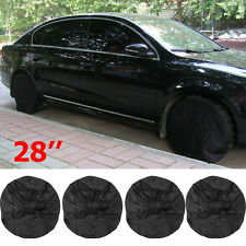 Set of 4 RV Wheel Tire Covers Auto Truck Car Camper Trailer 28'' Diameter Tyre