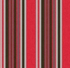 Marrakech Red Black Metallic Silver Stripe Textured Embossed Wallpaper 2324