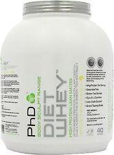 PHD Nutrition Diet Whey Protein 2kg Lean Degree 100 Caps Last 24 Vanilla Creme 90 Capsules Non Stimulant