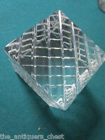"""Baccarat France crystal  paperweight, RARE design, 2 3/4"""" stamped"""
