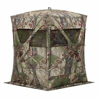 Barronett Blinds BM11BW Big Mike Backwoods Ground Hub Deer Hunting Blind, Camo