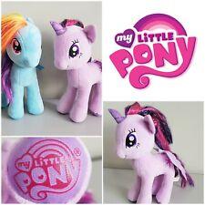 """My Little Pony Rainbow Dash & Twilight Sparkle TY Beanie Plush Soft Toy - 11"""""""