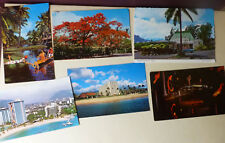 6 Hawaii POSTCARDS VINTAGE UNUSED