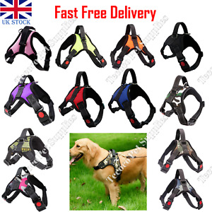 No Pull Dog Pet Harness Strong Adjustable Reflective Padded Safety Puppy Vest