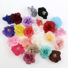 10/100P Mix 4.5cm Silk Artificial Rose Flower Heads For Wedding DIY Fake Flowers