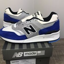 New Balance 997 White Blue Size Mens 7 M997OGA USA 998 999 Women's 9.5 Leather