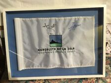 ADAM SCOTT NICARAGUA'S GUACALITO DE LA ISLA SIGNED  GOLF FLAG