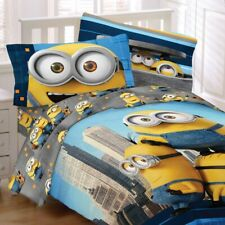 Universal Despicable Me Minions Bedding Set Yellow and Cool Comforter Sheet Set