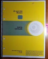 John Deere 25 25A Flail Mower Parts Catalog Manual PC-928 10/84