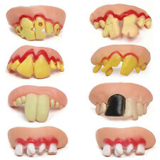 10Pcs  Ugly Fake Teeth Toy Party Funny Gift Costume Party Jokes Fun Pranks&L