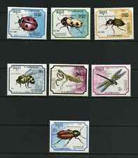 R505  Cambodia 1988   insects  7v.  MNH