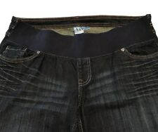 Womens DUO Maternity Jeans;front Elastic Waist;embroidered Pockets-size L [1210)