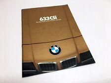 1979 BMW 6-Series 633 CSi E24 Brochure