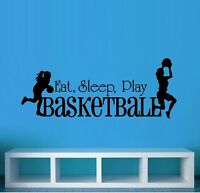 Eat Sleep Play Basketball Girls ~ Wall or Window Decal