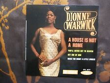 EP DIONNE WARWICK - A House Is Not A Home +3  Disques Vogue ‎– EPL. 8272  (1964)
