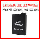 BATERIA DE LITIO LION 1800mAh PARA PSP 1000 1001 1002 1003 1004 SUSTITUCION