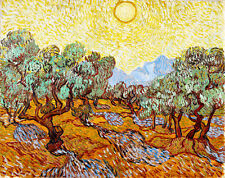 Olive Trees II by Vincent van Gogh A1+ High Quality Canvas Print