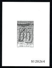 Faroe Island. Sc. # 184. Black Plate Proof. Engraver Cz. Slania