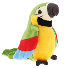 RECORDING PARROT Soft Plush Bird Toy Electronic Pet Talking Back Repeating G