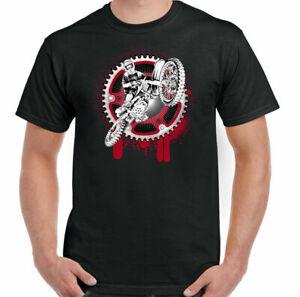 Motocross T-Shirt Gear Mens Funny Motorbike Dirt Bike Scrambler MotoX Motorcycle