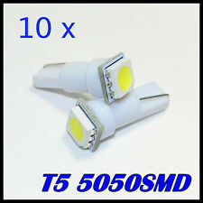 10 x T5 WHITE 5050 1 SMD LED 12v Dash Side License Dashboard Speedometer Light