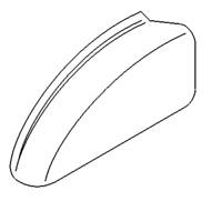 Kangoo Tailgate lampe de plaque dimmatriculation lumi/ère v/éritable 8200103260