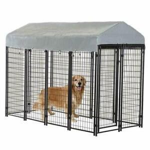 OutDoor Heavy Duty Playpen Dog Kennel 8'x4'x6' w/ Roof Water-Resistant Cover