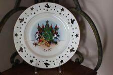 1997 Lenox Christmas Holiday Annual Disney Mickey Trimming Trio Plate (Euc)
