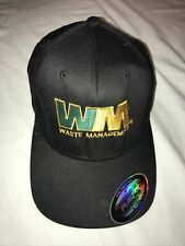 TEAM waste management hat Green & Yellow Letter