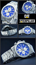 Chronograph - Cat Men's Watch Fluted Bezel Azure Blue 10 BAR WATER PROOF