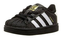 Adidas Superstar Black White Toddler Infant Kids Sneakers Tennis Shoes BB9078