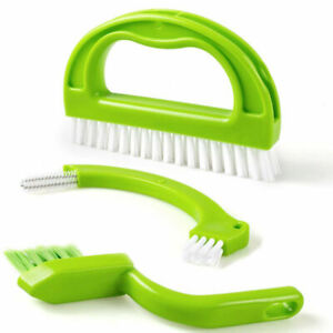 CLEANING BRUSH 3 IN 1 TILE GROUT  MOULD REMOVER NARROW STIFF SCRUB STAIN CLEANER