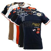 T-shirt JARADOCK Geographical Norway Uomo slim fit 100% cotone maglia manica ...