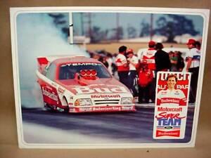 NHRA Kenny Bernstein Budweiser Ford Tempo Funny Car Fan Hero Photo Motorcraft