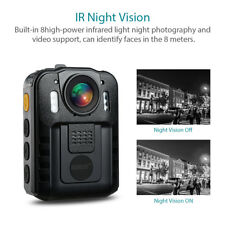 Boblov Mini Police Body Worn Camera DVR HD 1296P IR Night Vision 170° Waterproof