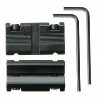 2pcs 11mm Dovetail to 20mm Weaver Picatinny Rail Scope Mount Adapter Converter